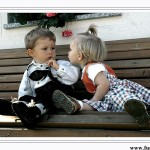 Really hilarious!! A little boy trying to kiss a little girl