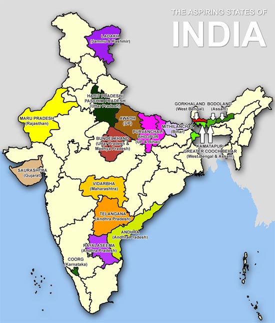 India Might Soon Have 50 States. Let's Have A Look At The Demand For New States Across The Country.